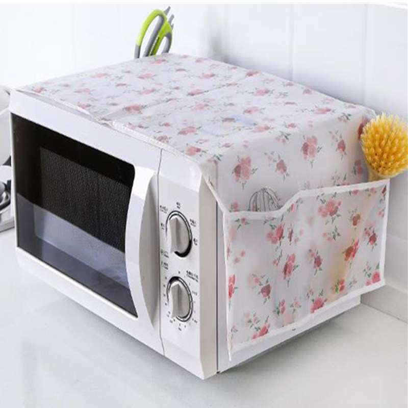 Microwave Oven  Dust Cover Kitchen Oil Dust Waterproof Double Pockets Kitchen Accessories Supplies Home Decoration
