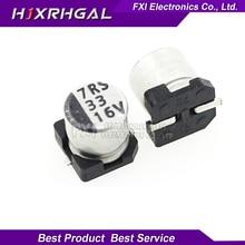 10PCS Electrolytic capacitor 16V33UF 5*5.5mm SMD aluminum electrolytic capacitor 33uf 16v