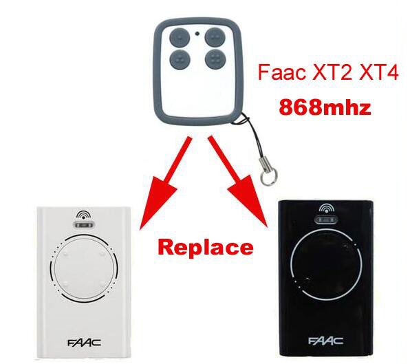 FAAC XT2 XT4 868SLH compatible remote 868MHZ faac xt2 xt4 868 slh lr replacement garage door remote control 868mhz high quality