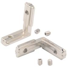 все цены на 20Pcs T Slot L-Shape Interior Inside Corner Connector Joint Bracket With Screws 2020 Series Slot 6Mm For Aluminum Extrusion Pr онлайн