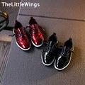 2017 весна новая Мода Лакированной Кожи супер идеальный повседневную одежду дети свадьба shoes Лян Pi Корейской версии Британского styl