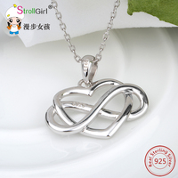 2018 new original love 925 Sterling Silver Pendants & Necklaces for Women original jewelry for new Chain Jewelry Necklaces