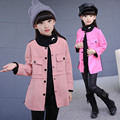 New  Suede Fabric  Girls Trench Coats High Quality  Girl Jacket  Children Outerwear Girls Jacket 6BCT119
