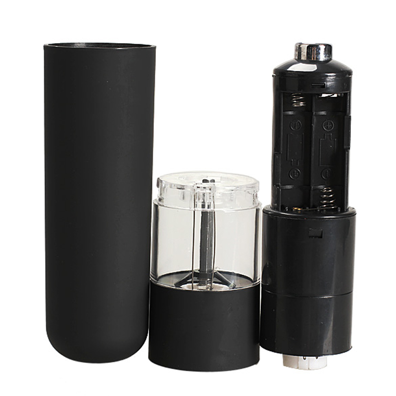 Electric Salt Spice Herb Pepper Mills Grinder with LED Light Black Restaurant Hotels Home Kitchen Use Salt Pepper Mills