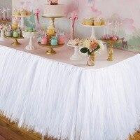 Свадебная вечеринка Тюль Туту Юбка для стола День рождения Baby Shower свадебный стол Аксессуары DIY рукоделия Лидер продаж