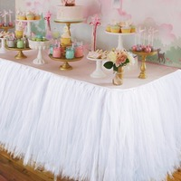 Wedding Party Tulle Tutu Table Skirt Birthday Baby Shower Wedding Table Decorations Diy Craft Supplies Hot