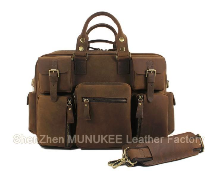 257620ed98bf 2015 Vintage Military Canvas Genuine Leather Men s Travel Bag Large Duffle  Bag Canvas Tote Luggage Bag Boston Overnight Bag big USD 92.29 piece