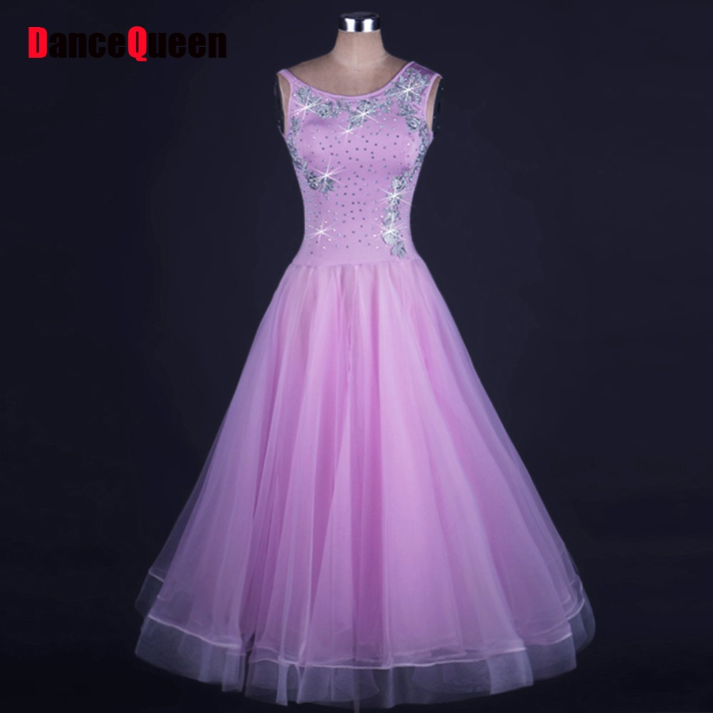 2017 Women Ballroom Dance Dress Lycra&Organza Backless Sleveless Bouffant Skirt Flamenco Dress Clothes Vestidos Para Festas цена