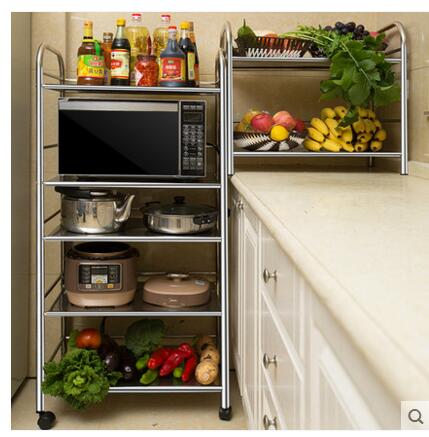 Stainless Steel Kitchen Set Rack Of Storage And Storage For The Oven