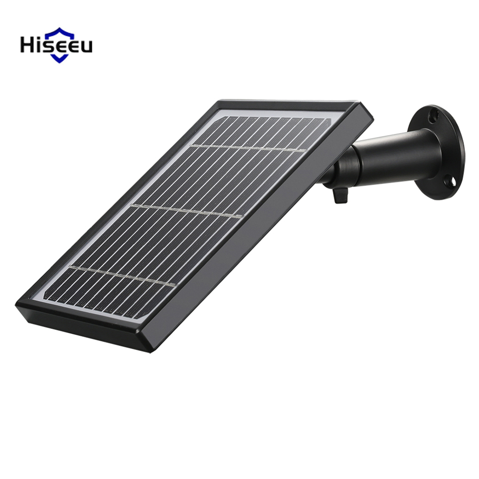 Hiseeu TYNB-5V Waterproof Outdoor Security Camera Solar Panel For Hiseeu C10 Wireless Rechargeable Battery IP Camera Monitor