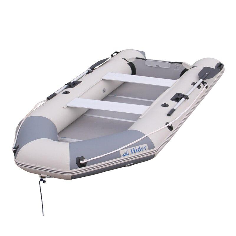 Hdier HA-380 aviron bateau gonflable à la dérive riqid bateau de pêche PVC matériel en caoutchouc bateau d'assaut avec CE