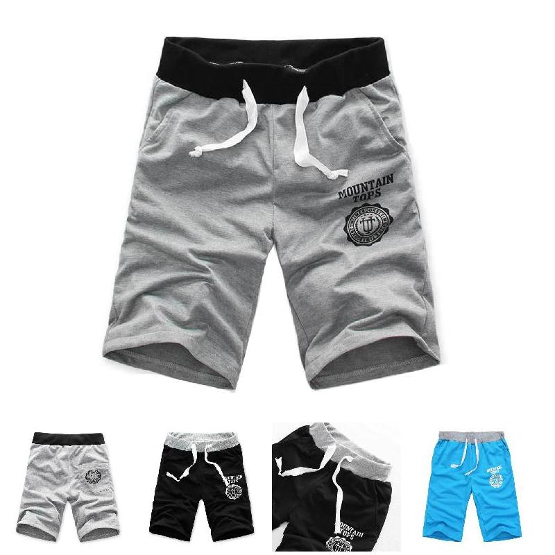 Pant Men Shorts Half Beach-Printing Outdoor Breathable Cotton Summer Casual Fashion