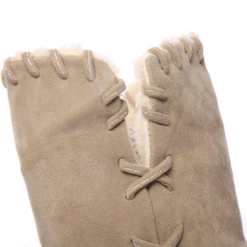 Bajo Tacón Mujeres Buena Green 2018 Zapatos Egonery Botas dark Fuera apricot Marca Para Calidad Punta Nieve De Black Invierno Redonda Nueva Casual Mujer Caminando Cálido La xUw7p