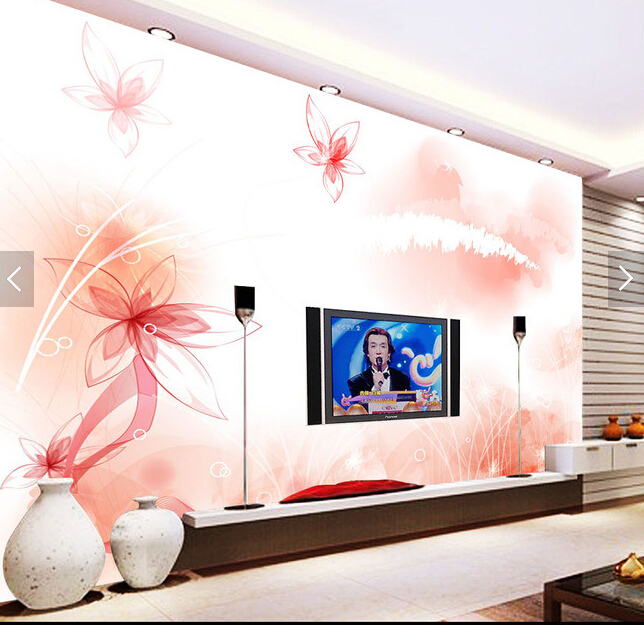Custom 3D stereoscopic wallpaper, pink cherry for living room bedroom TV background wall waterproof papel de parede custom photo wallpaper 3d stereoscopic cave seascape sunrise tv background modern mural wallpaper living room bedroom wall art