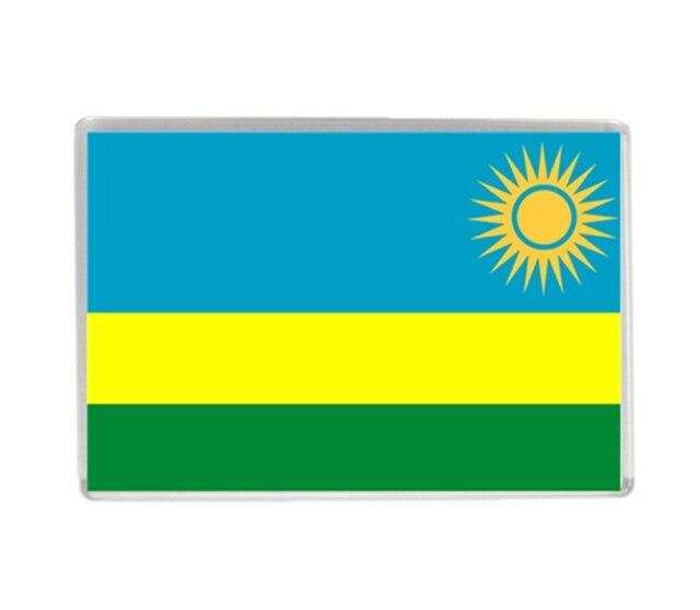 I Love Rwanda Flag Quality Acrylic Fridge Magnets Exquisite World - Rwanda flag