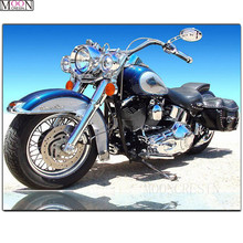Scenic DIY Diamond Painting Cross Cool Motorcycle Mosaic Square Drill Full Embroidery Decoration Needlework Gift
