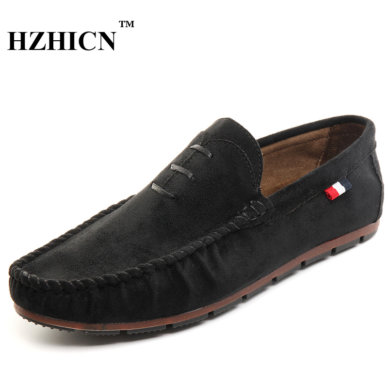 HZHICN Brand New Fashion Summer Spring Men Driving Shoes Loafers Fur Leather Boat Shoes Breathable Male Casual Flats Loafers 7.5  synthetic leather men shoes spring male casual shoes new 2017 fashion leather shoes loafers men s shoes flats zapatillas