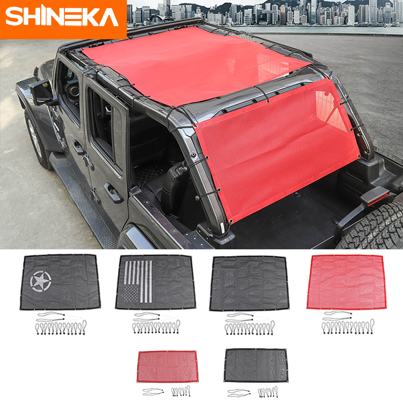 SHINEKA Car-Cover Trunk Wrangler Jl Jeep Accessoire Shading-Net Roof