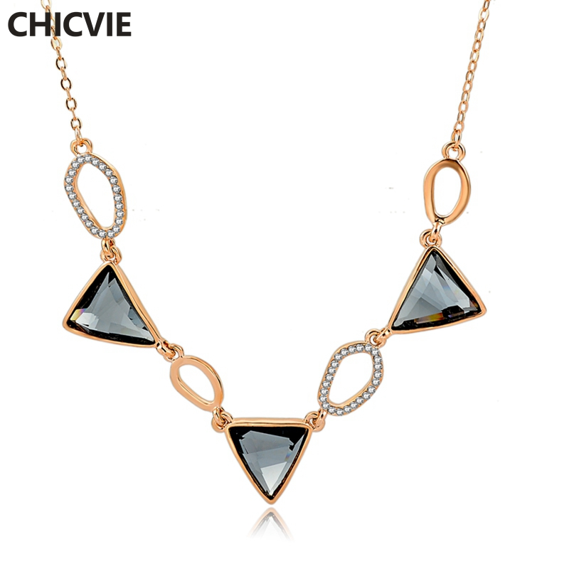 CHICVIE Gold Crystal Choker Necklaces Women Beautiful Collar Necklace Female Wedding & Engagement Jewelry DIY Necklace Sne160131