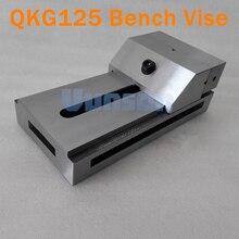 QKG125 плоский нос прецизионные тиски для поверхностного шлифования, фрезерный станок, edm машина, высокая точность 0,005 мм/100 мм