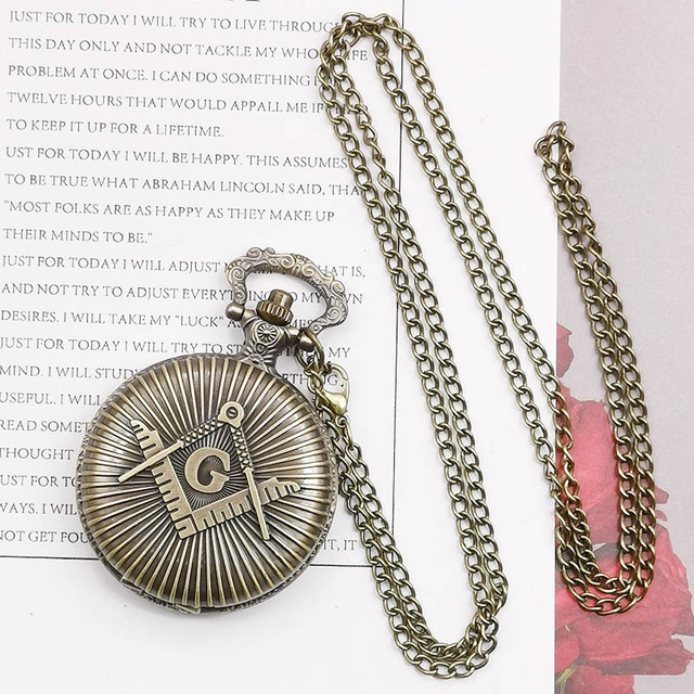 Vintage Bronze  Unisex Fashion Roman Number Quartz Steampunk Pocket Watch Women Man Necklace Pendant With Chain