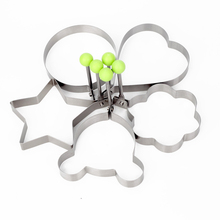 1Pc Baking Tools Food Grade Stainless Steel Star Heart Flower Omelette Machine Egg Cookie Pastry Cake Mold Kitchen Accessories