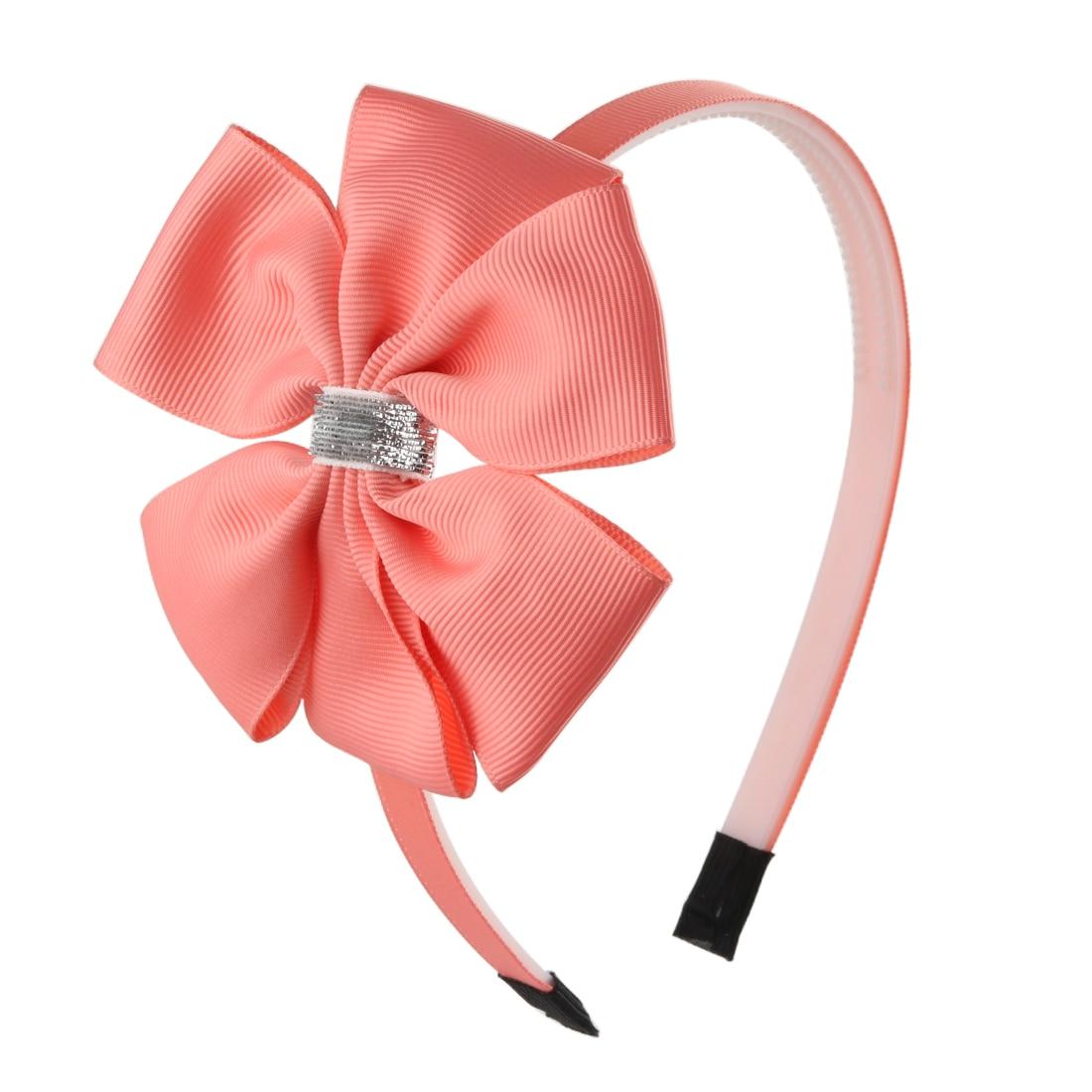 1 Pc Mädchen Großen Bogen Hair Kid Frühling Headwear 3,5 Inch Bögen Stirnbänder Neue Design Glitter Verknotet Tails Kinder Headhoop