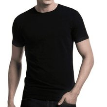 Contrast Trimmed 180-190GSM Spring Summer 100% Australia Merino Wool Mens Short Sleeve T Shirt, Casual Taste, American Fitting(China)
