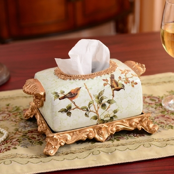 tissue boxes, painted napkin boxes, home boxes, furnishings, retro decoration, high-grade cardboard box, European style