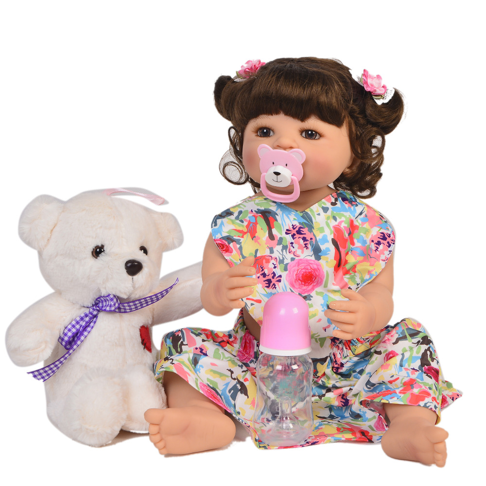 Fashion 55cm Bebe Doll Reborn all Silicone vinyl Girl Toy looks good Reborn Baby Doll Gift for Children Sleeping Accompanying doFashion 55cm Bebe Doll Reborn all Silicone vinyl Girl Toy looks good Reborn Baby Doll Gift for Children Sleeping Accompanying do
