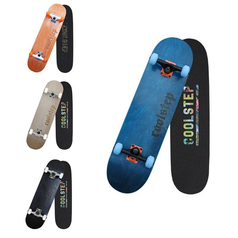 HOOMORE adulte 4 roues planche à roulettes 2.5 KG Double culbuteur érable planche à roulettes 4 couleurs 608 ABEC-11