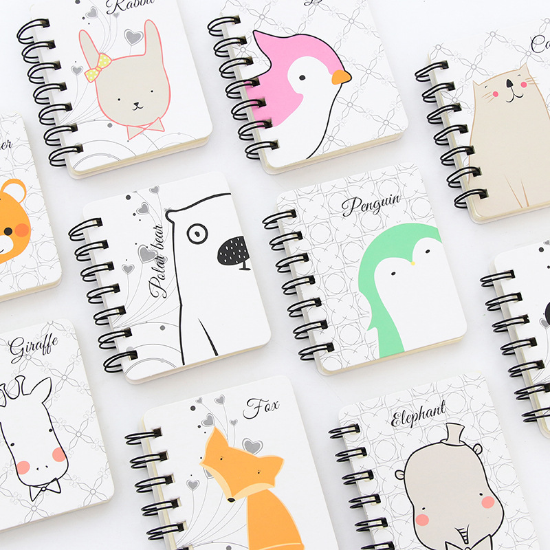 Kawaii Cute Cartoon Whale tigers Daily Weekly Planner Spiral Notebook Day Plan Diary Notebook Time Organizer School Supplies plan