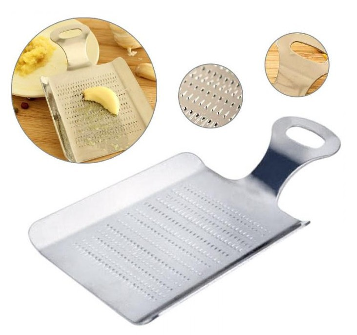 Enthusiastic 1x 2018 Hot Sale Multi-functional Vegetable Stainless Steel Ginger Garlic Mashed Crushed Grater Mill Mud Grinding Graters F2284 An Indispensable Sovereign Remedy For Home Garlic Presses