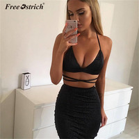 Free Ostrich 2018 Sexy Bandage Bodycon Dresses Hal ...