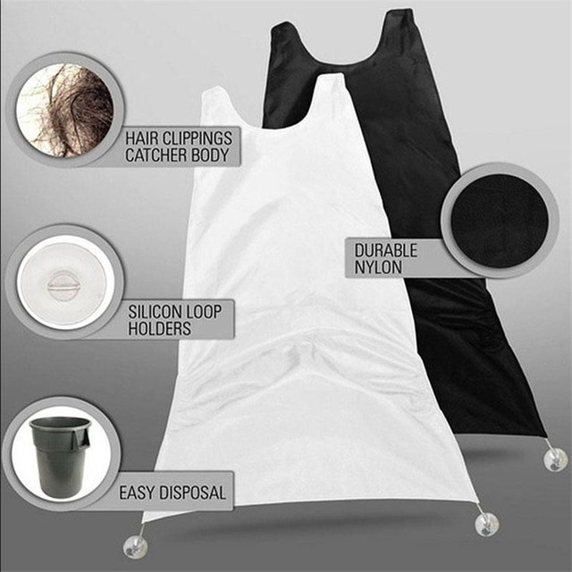 Quality 1pc Catcher Apron Bib Cover for Shaving Beard and Mustache with Suction Cups Attach to Mirror Hairdressing Tools 120 * 78CM