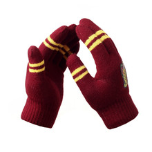 лучшая цена Winter Warm Harry Potter Glove Unisex Thickened Double Layer Knitted Wool Gryffindor Gloves Gift Magic Toys