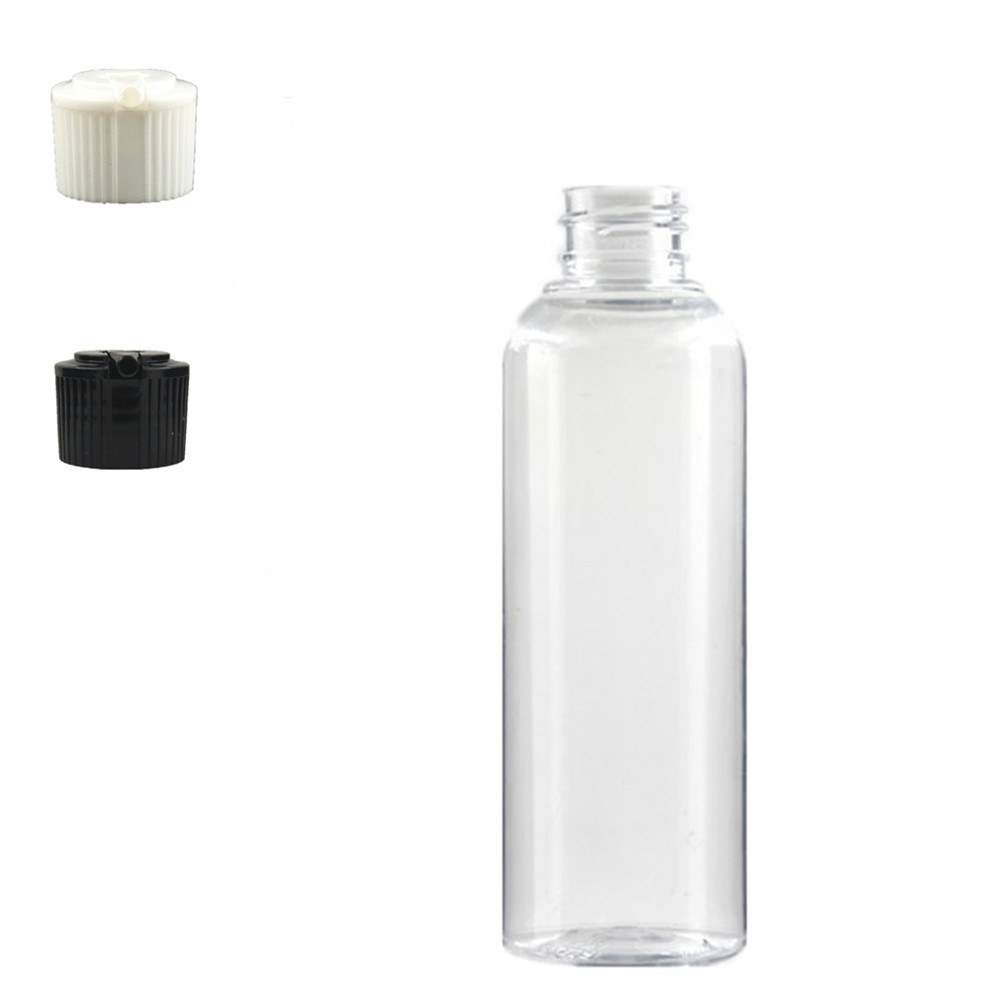 Empty White Dispensing Caps Plastic Bottles, 200ml Clear PET Bottle With  Spouted  Cap