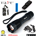 E17 LED CREE XM-L T6 Flashlight 8000LM Aluminum Torch Zoomable Tactical Flashlight Lamp For 3XAAA or 18650 Battery