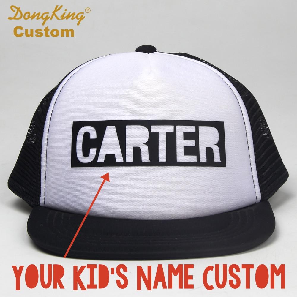 DongKing Custom BLOCK LETTER Kids Adult Trucker Hat Custom Toddler Snapback  Personalized Baby Man Women Meth Cap Hats Gift-in Baseball Caps from  Apparel ... c2a8e4b2390