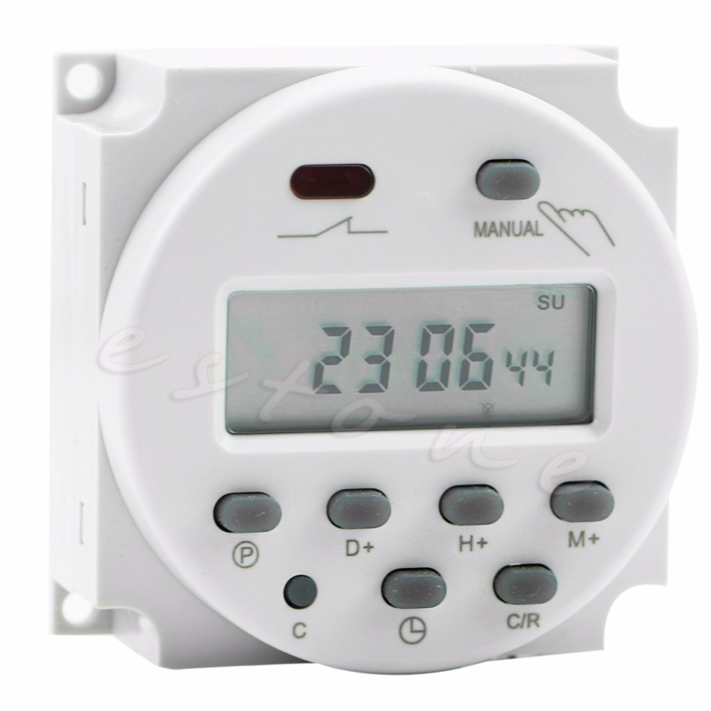 AC 12V 16A LCD Timer Switch Display Digital Power Programmable Time Relay - L057 New hot туалетная бумага анекдоты ч 6 мини 816558