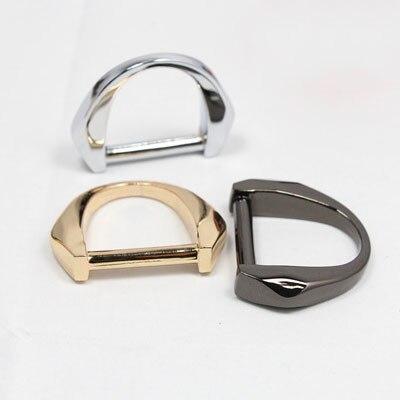 4 шт. 25 мм модные сумки кожаная сумка, ремешок D кольцо пряжки застежка с веб-винт DIY Сумки одежды интимные аксессуары пряжки