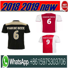 9b8047dbe4b Top thailand 2018 2019 AJAX FC soccer jersey DOLBERG HUNTELAAR ZIYECH TADIC  BLIND CRUYFF jerseys 18 19 football kit shirt Nether