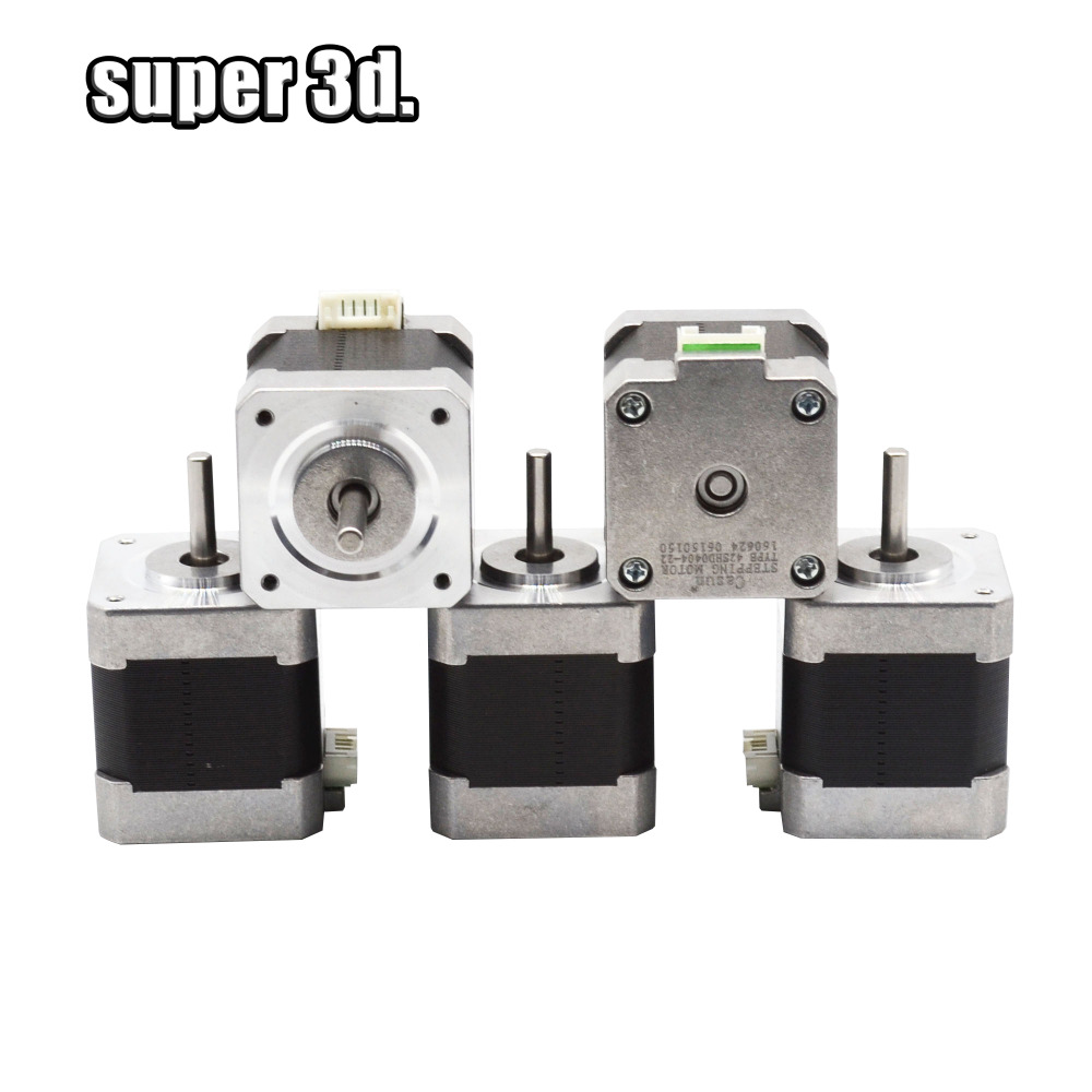 5pcs lot High Quality Nema17 Stepper Motor 400mN m 1 5A 1 8 degree CNC XYZ