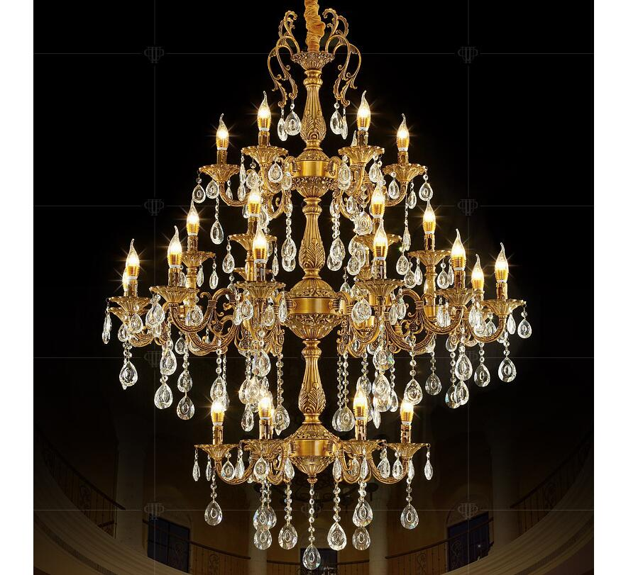 Free Shipping Aluminum Zinc Alloy Mysterious Clear Class A K9 Crystal Chandelier AC90-260V 30 Arms D115cm E14 LED Light Source hemingway e a farewell to arms