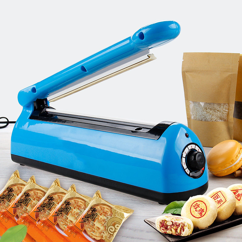 Manual Plastic Film Sealer Heat Impulse Sealer Poly Bag Plastic Film Sealing Machine for Home Kitchen portable impulse bag sealer 110v 300w heat sealing impulse manual sealer machine poly tubing plastic bag household tools hot