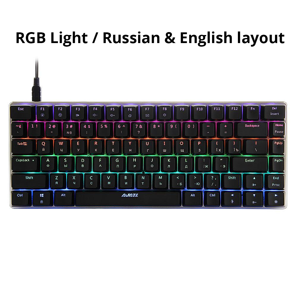 Axis Body : Blue Switch , Color : EN single backlit 1 Gaming keyboard Gaming Mechanical Keyboard Russian//English Layout Backlight USB Wired Anti-ghosting Blue//Black Switch Pc Gamer keyboard