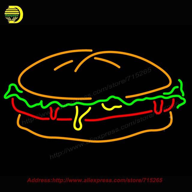 Burger Leuchtreklame Bioshock Plasmide Glaskolben Handcrafted Erholung Haus Zimmer Ikonischen Zeichen Beleuchtete Glas bud light 20x37