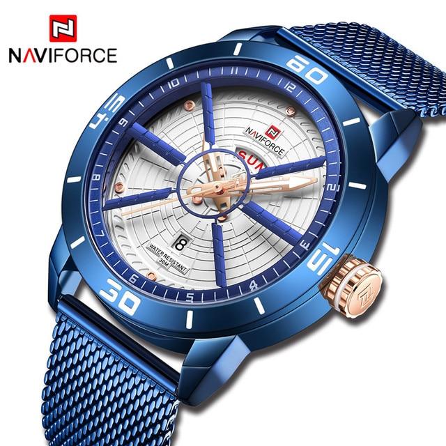 NAVIFORCE для мужчин s часы лучший бренд класса люкс кварцевые часы для мужчин полный сталь для мужчин часы Спорт Мода Бизнес часы Relogio Masculino