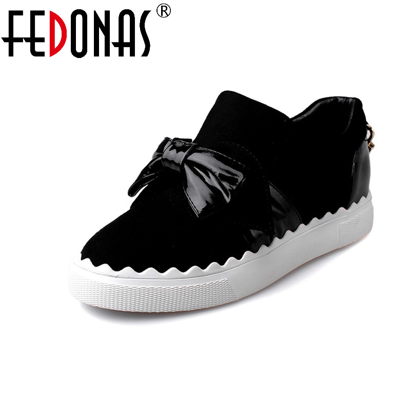 FEDONAS Spring Autumn Fashion Women Shoes Round Toe Slip-On Cute Flat Shoes Woman Comfortable Single Casual Flats Zapatos Muje spring summer women flat ol party shoes pointed toe slip on flats ladies loafer shoes comfortable single casual flats size 34 41