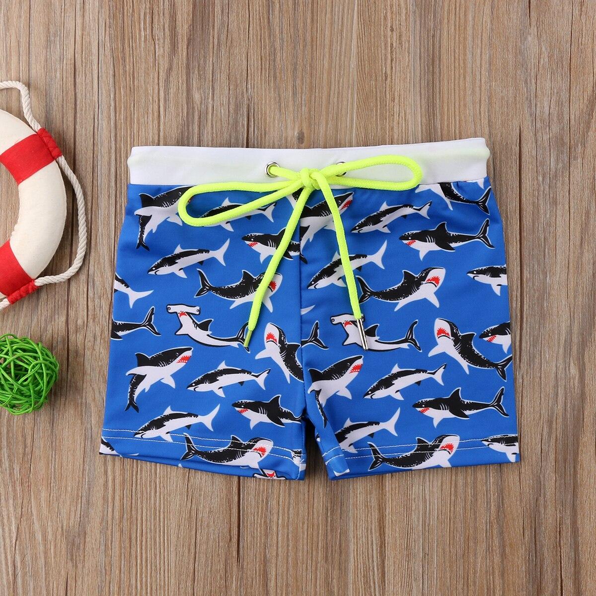 Bathing-Suit Swimwear Skull 6years Striped Boys Short 1-2-3-4-5 Swimming-Trunks Shark-Stars